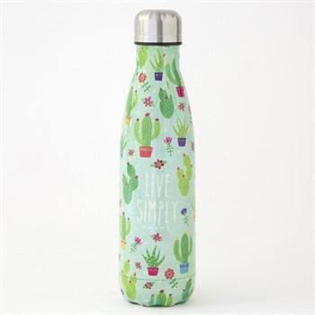 Water Bottle 500ml Live Simply Cactus