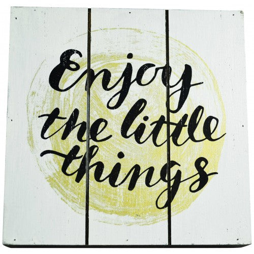 Enjoy the Little Things 15cm block