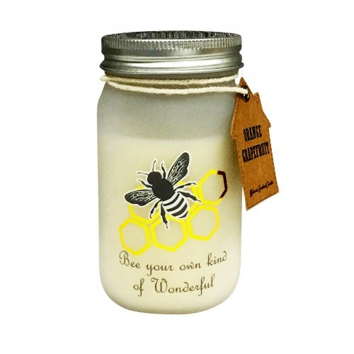 Candle Jar Bee 11cm