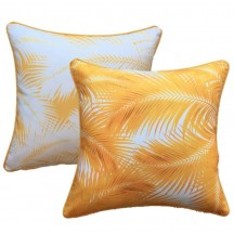Yellow Palm Leaves Cushion Cover 45cm