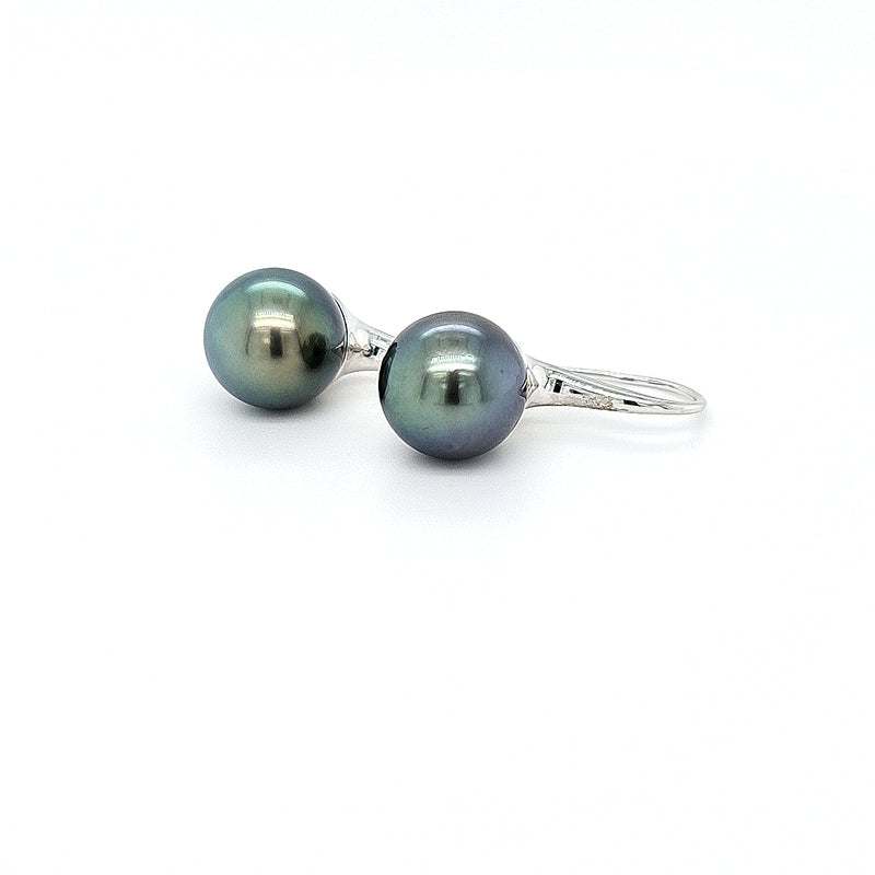 Pearl Tahitian 18ct White Gold Hook Earrings