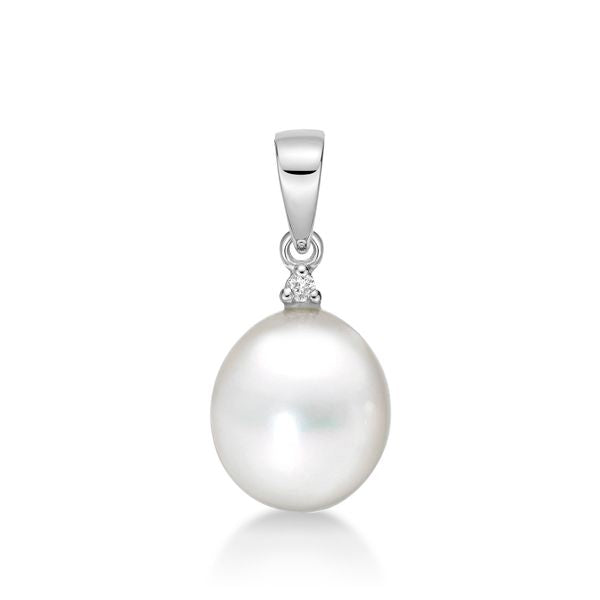 Silver Freshwater Pearl and Chain