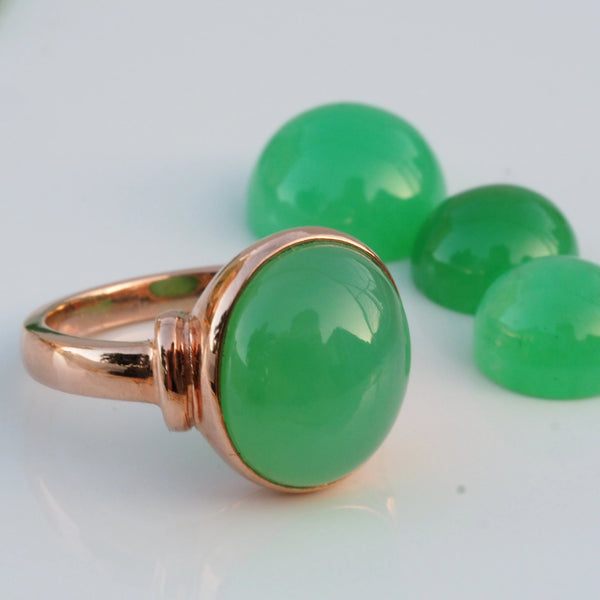 Chrysoprase Rose Gold Ring