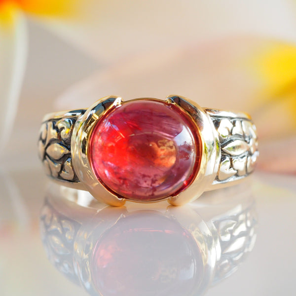 Rubellite Tourmaline Gold Ring