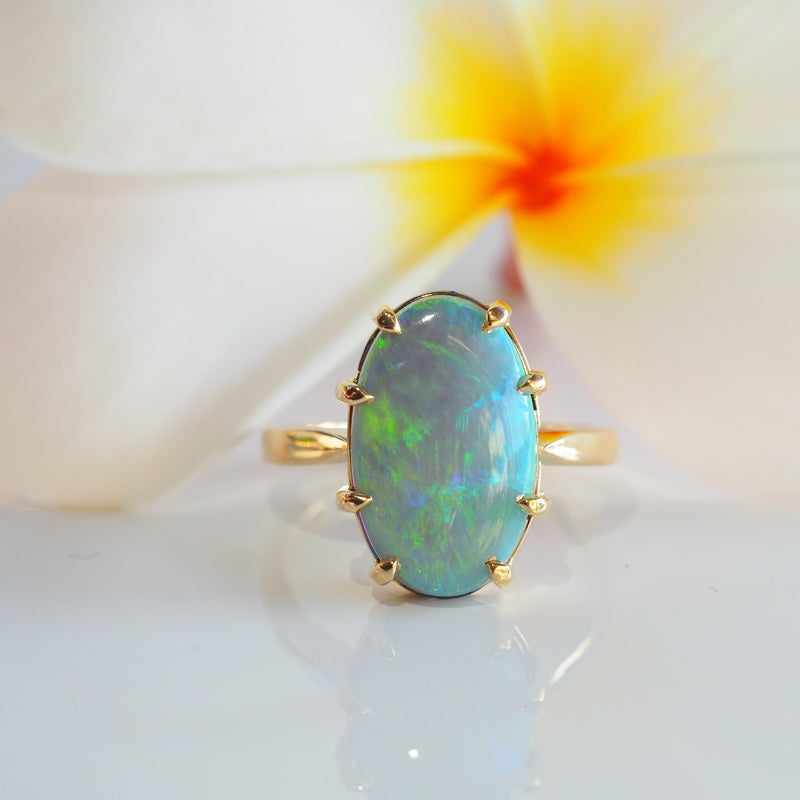 Lightening Ridge Opal Ring