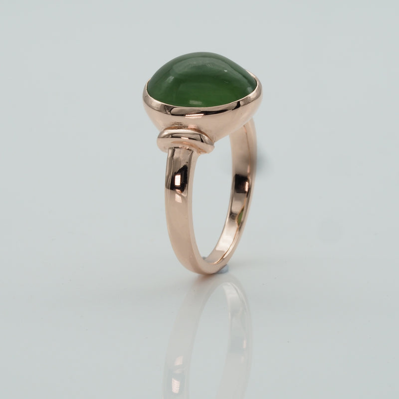 Green Serpentine Gold Ring