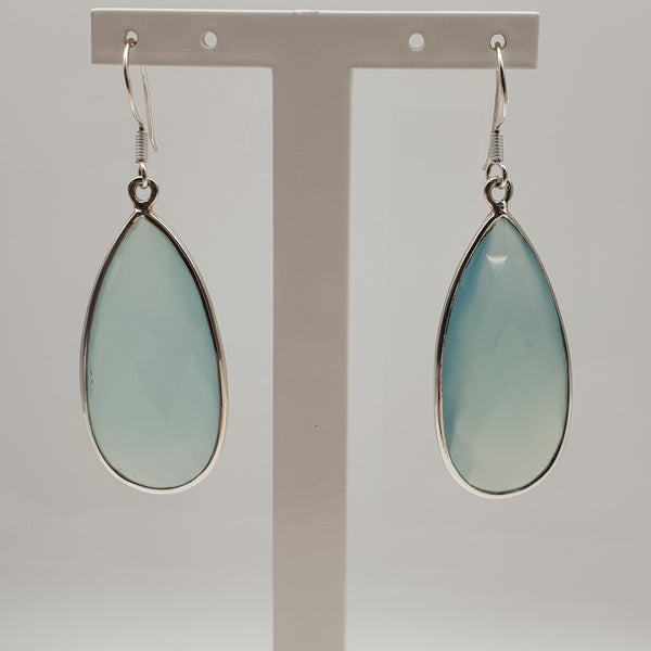 Silver Chalcedony Earrings