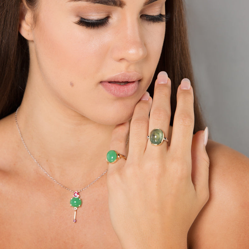 Green Stone Rings