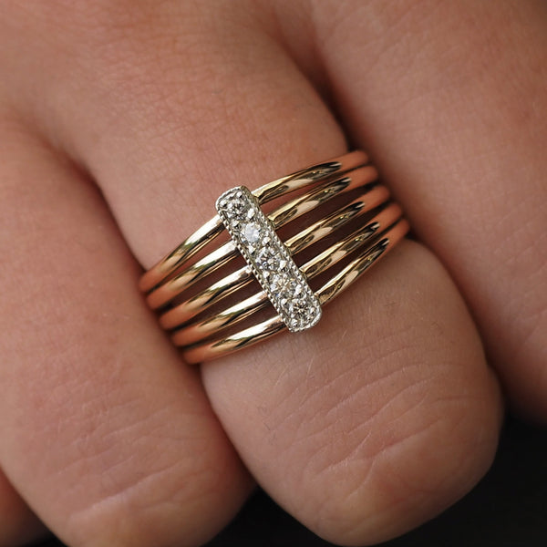Five Band Diamond Ring