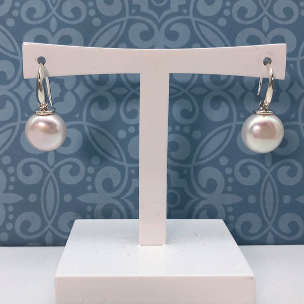 Button Pearl Earrings