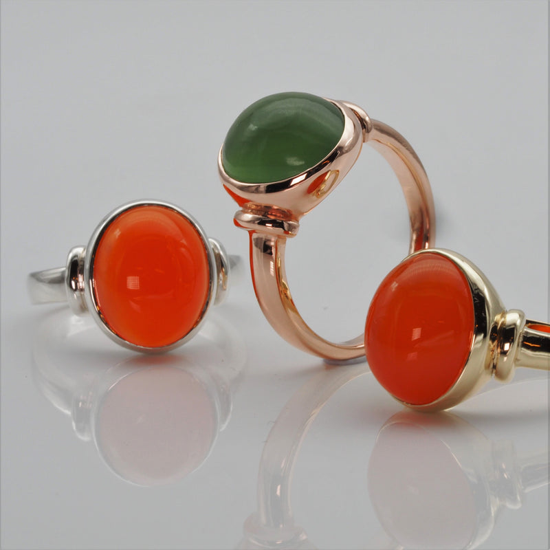 Carnelian and Serpentine Ring