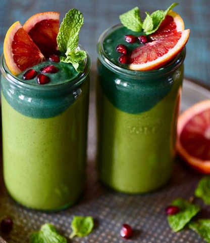 Green Powders for Smoothies - Chlorella And Spirulina Detox Smoothie