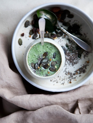 Green Powders for Smoothies - Fennel, Ginger, and Chlorella Smoothie