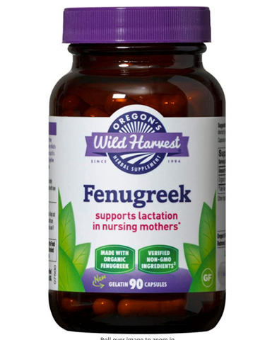 Oregon's Wild Harvest Fenugreek Organic Herbal Supplement