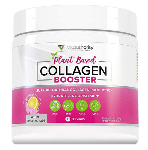 Vegan Collagen Supplements - Vitauthority Plant Based Collagen Booster Powder