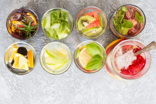 infused water - drink to balance hormones