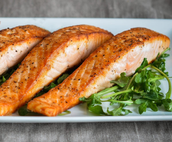 Salmon helps regulate female testosterone levels and bring hormone balance