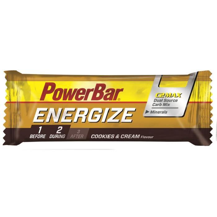 POWERBAR Lot de 25 barres  Energize - Cookies et creme - 55 g