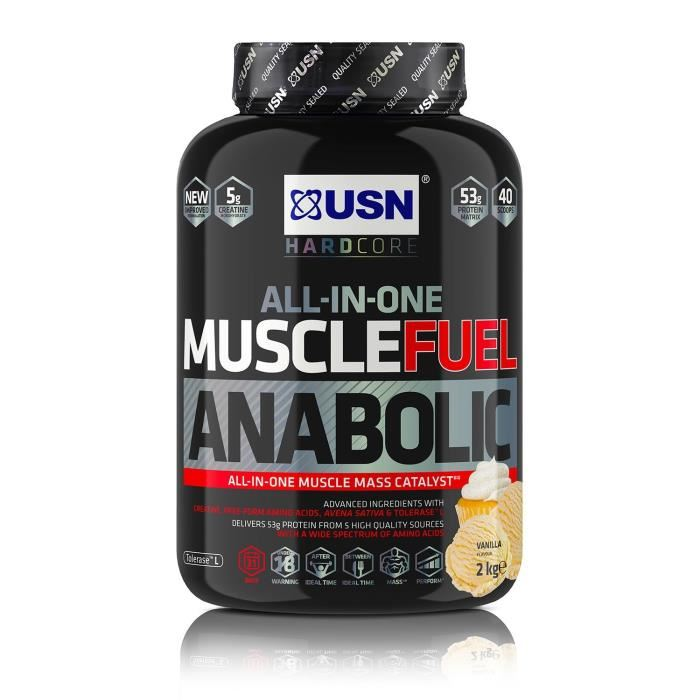 USN Muscle Fuel Anabolic 2 kg Vanille Prise de Masse