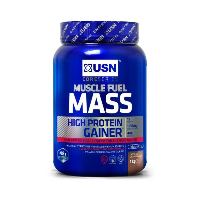 USN Muscle Fuel Mass 750g Chocolat Prise de Masse