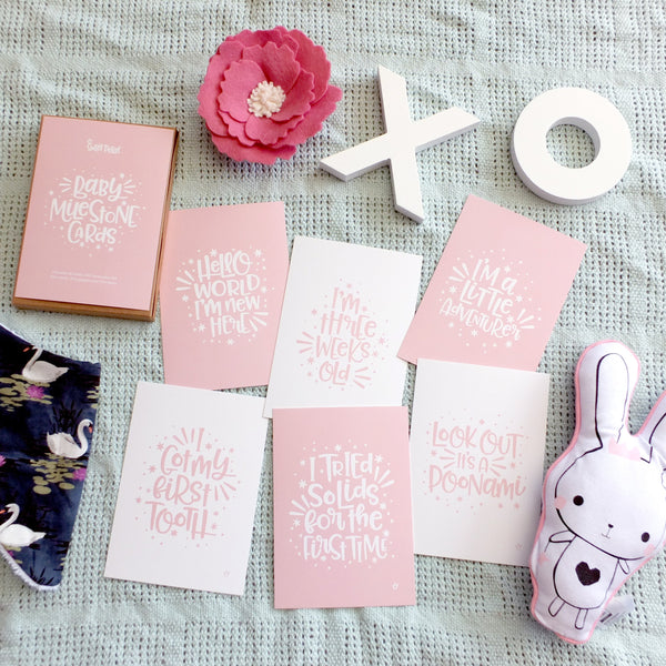 Baby Milestone Cards - Blush - LIMITED STOCK