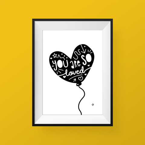Sweet Petite | Empowerment print | You are So Loved