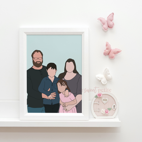 Minimalist Portrait Print - Digital