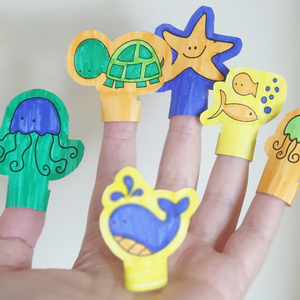 Printable Finger Puppets - Under The Sea