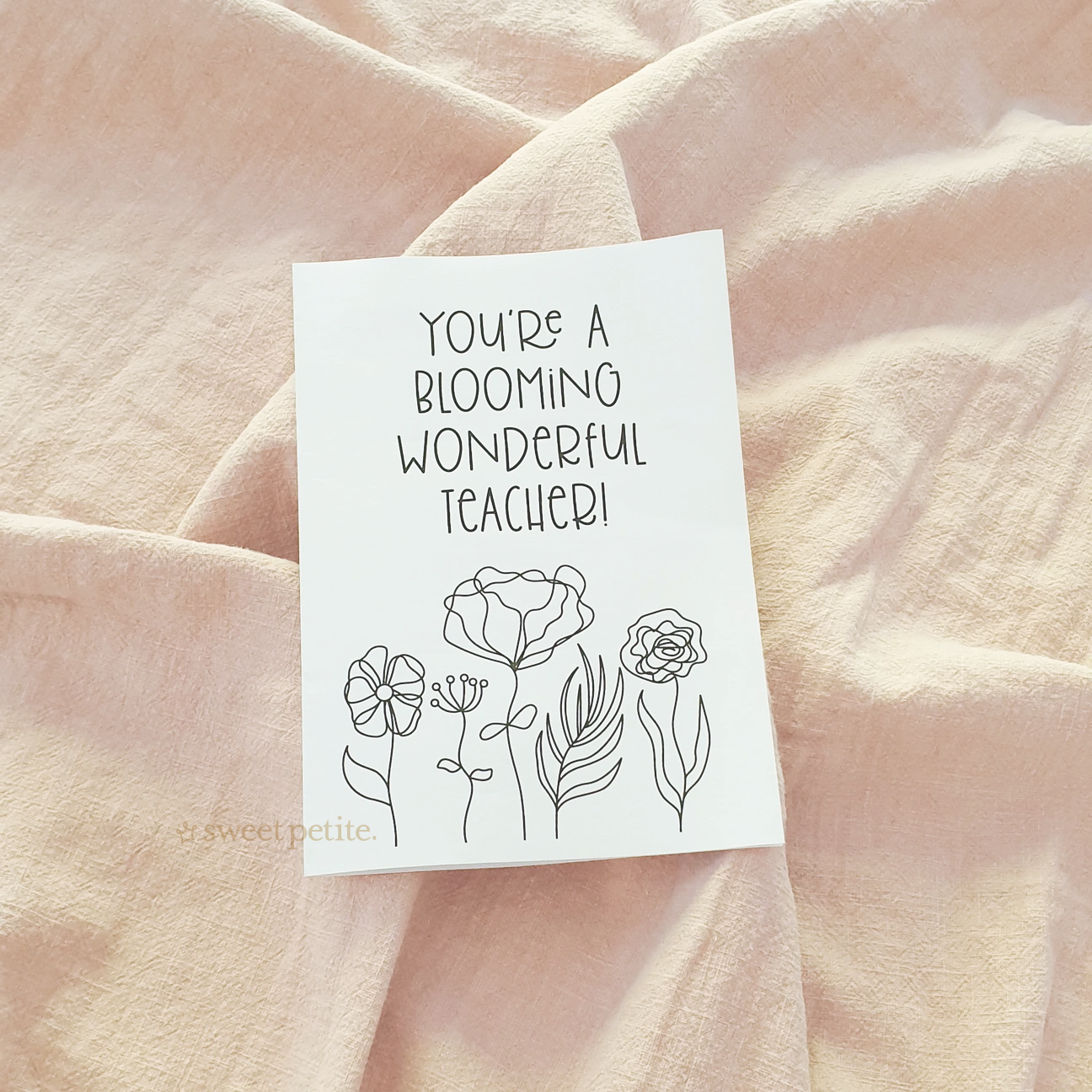 Teacher Thank You Card - Blooming