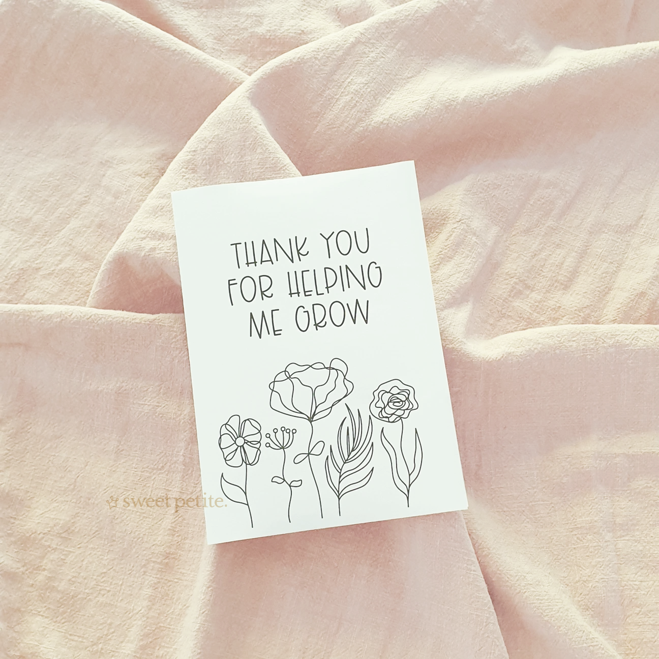 Teacher Thank You Card - Grow