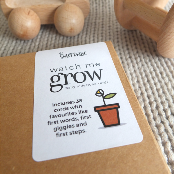 Watch Me Grow Baby Milestone Cards | Sweet Petite