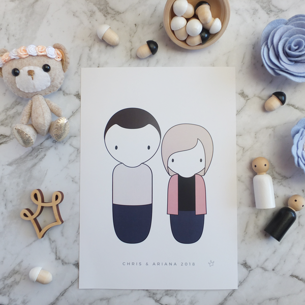 Custom Personalised Peg Doll Family Portrait | Sweet Petite