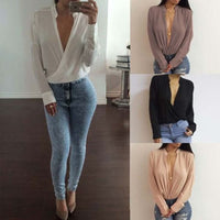 Women's Lady Loose Long Sleeve Chiffon Casual Blouse Shirt Tops Fashion Blouse - Sell-off