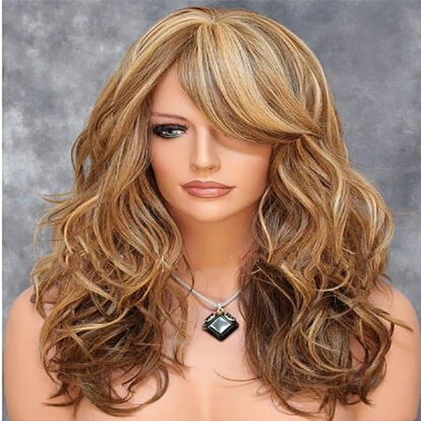 Euramerican Shave Face Female Hair Mixes Aureate Pear Flower Head Melting Wig - Sell-off