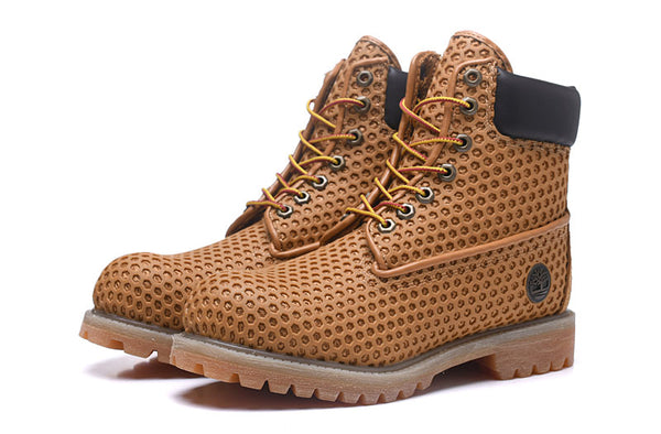 TIMBERLAND Bird nest Genuine Leather Ankle Wheat  Outdoor Lace-Up Boots