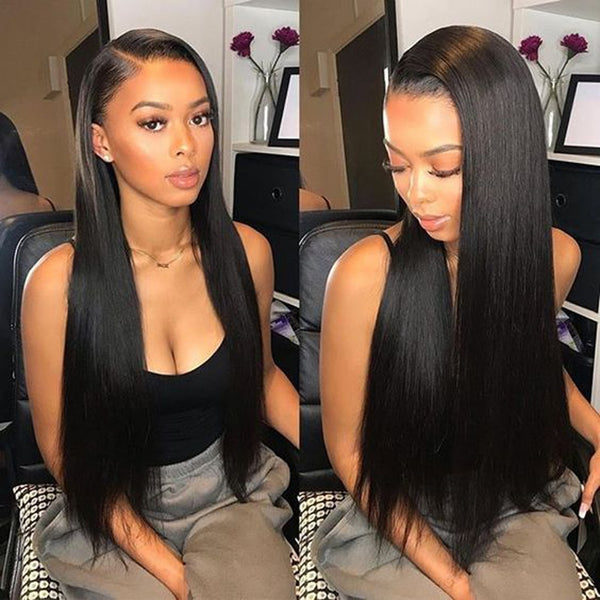 Pre-Colored Human Hair Weave Peruvian Straight Hair Medium Brown 4# Color 10-24inch Hair Bundles 3pcs/lot Peruvian Hair - Sell-off