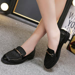 British Style Slipsole Black Leather Vintage Flats - Sell-off