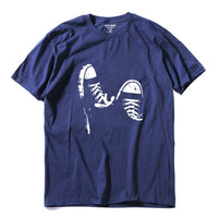 100% cotton casual short sleeve skate shoes men T shirt - Sell-off