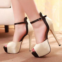Chic Women's High Heels Stiletto Pumps US Platform Peep Toes Buckle Strap Sandals - Sell-off