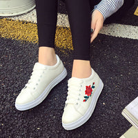 Women's Flat Shoes Spring Rose Creepers Platform Casual Shoes - Sell-off