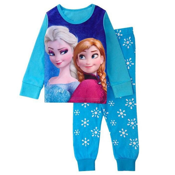 Girls Elsa Anna Toddler Girls Two-piece Pajamas Suit - Sell-off