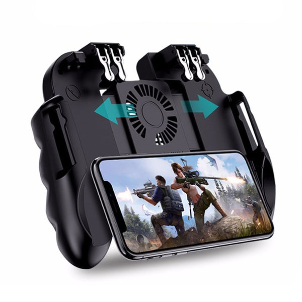 Game Controller Gamepad Trigger Shooting Free Fire Cooling Fan Gamepad Joystick For IOS Android Mobile Phone - Sell-off