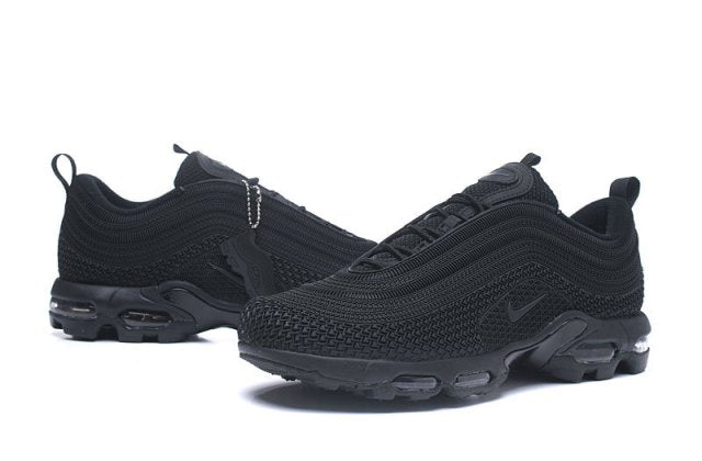quality design b1eb9 a42cb Mens Nike Air Max 95 TN Running Shoes Triple Black
