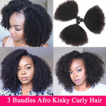 Mongolian Afro Kinky Curly Hair Bundles 3 Bundles Deal 8-22 inches Human Hair - Sell-off