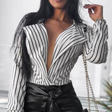 New Arrival Sexy Striped Women Blouse - Sell-off
