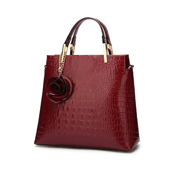 New Style Stereo Rose Decor Ladies Handbag - Sell-off