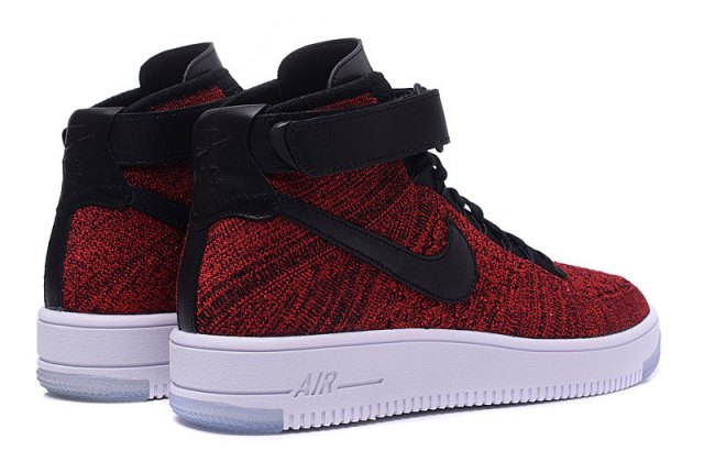 buy online 11341 0bde7 Nike Air Force 1 Ultra Flyknit Mid University Red Black 817420 600 Mens  Womens Running Shoes