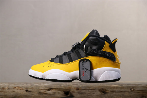 Nike Air Jordan 6 Rings GG Black Yellow Women's Basketball Shoes - Sell-off