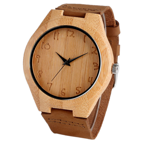 Bamboo Analog Quartz Nature Wood Wrist Watch - Sell-off