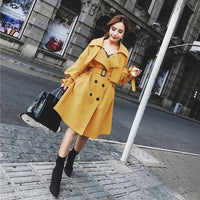 Winter Double Breasted Ginger Coat w Belt - Sell-off